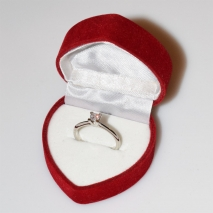 Handmade wedding ring with sterling silver platinum plating and precious stones (zircon) IJ-010487-S in gift box