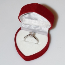 Handmade wedding ring with sterling silver platinum plating and precious stones (zircon) IJ-010489-S in gift box