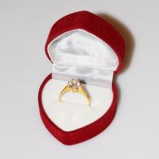 Χειροποίητο δαχτυλίδι μονόπετρο από επιχρυσωμένο ασήμι 925ο με ημιπολύτιμες πέτρες (ζιργκόν) IJ-010477-G στο κουτί συσκευασίας