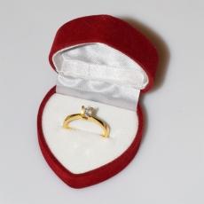 Χειροποίητο δαχτυλίδι μονόπετρο από επιχρυσωμένο ασήμι 925ο με ημιπολύτιμες πέτρες (ζιργκόν) IJ-010479-G στο κουτί συσκευασίας