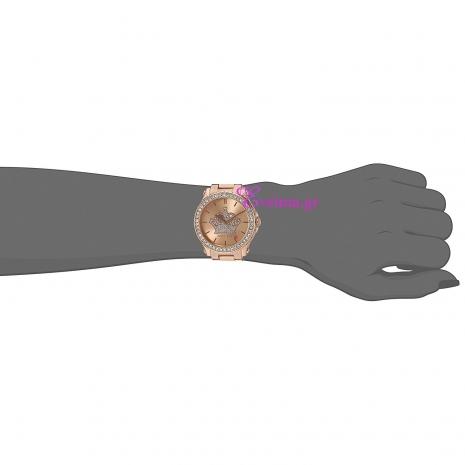 Juicy Couture Ρολόι από ροζ χρυσό ανοξείδωτο ατσάλι με μπρασελέ 1901473 στο χέρι
