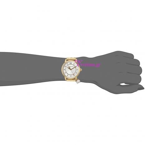 Juicy Couture Ρολόι από χρυσό ανοξείδωτο ατσάλι με μπρασελέ 1901475 στο χέρι