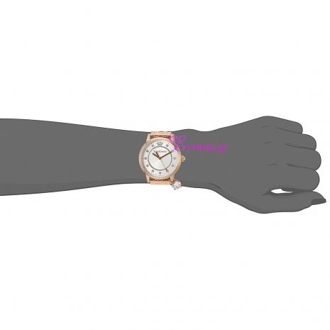 Juicy Couture Ρολόι από ροζ χρυσό ανοξείδωτο ατσάλι με μπρασελέ 1901476 στο χέρι