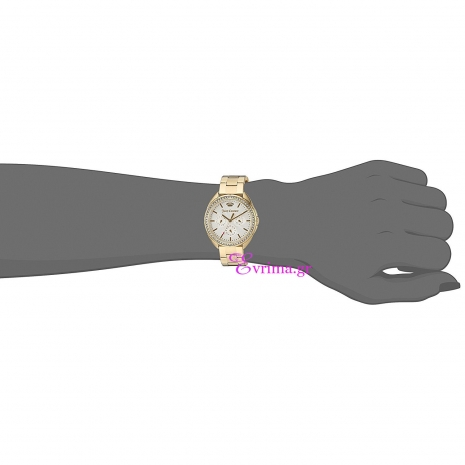 Juicy Couture Ρολόι από χρυσό ανοξείδωτο ατσάλι με μπρασελέ 1901479 στο χέρι
