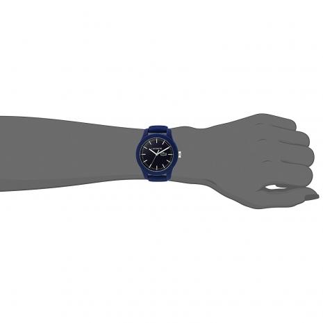 Lacoste Ρολόι από σκούρο μπλε ανοξείδωτο ατσάλι με μπλε λουράκι από καουτσούκ 2000955 στο χέρι