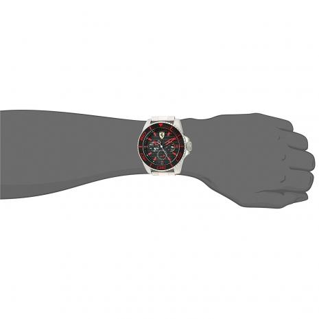 Ferrari Ρολόι από ανοξείδωτο ατσάλι με μπρασελέ 0830311 στο χέρι