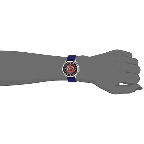 Juicy Couture ρολόι από ανοξείδωτο ατσάλι με μπλε λουράκι σιλικόνης 1901482 εικόνα 2