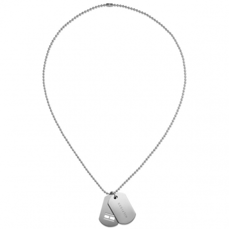 Tommy Hilfiger stainless steel men's necklace with tag design 2700772 image 2