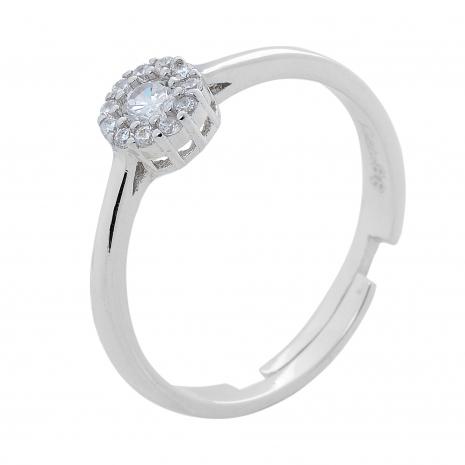 Σετ κοσμημάτων Prince Silvero (κολιέ, σκουλαρίκια και δαχτυλίδι) από επιπλατινωμένο ασήμι 925ο με ημιπολύτιμες πέτρες (ζιργκόν). JD-SE170-SET δαχτυλίδι μέρος του σετ