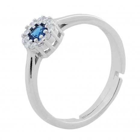 Σετ κοσμημάτων Prince Silvero (κολιέ, σκουλαρίκια και δαχτυλίδι) από επιπλατινωμένο ασήμι 925ο με ημιπολύτιμες πέτρες (ζιργκόν). JD-SE170M-SET δαχτυλίδι μέρος του σετ