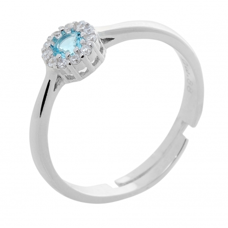 Σετ κοσμημάτων Prince Silvero (κολιέ, σκουλαρίκια και δαχτυλίδι) από επιπλατινωμένο ασήμι 925ο με ημιπολύτιμες πέτρες (ζιργκόν). JD-SE170Q-SET δαχτυλίδι μέρος του σετ