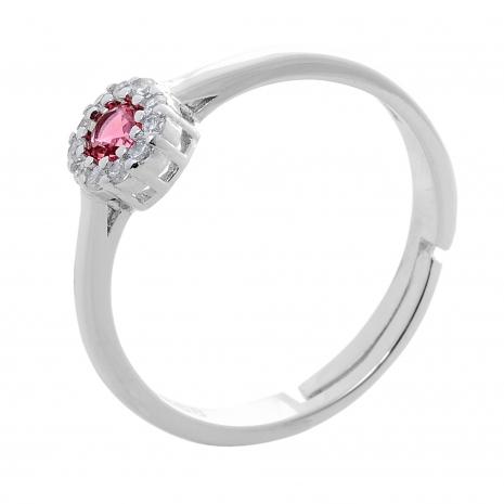 Σετ κοσμημάτων Prince Silvero (κολιέ, σκουλαρίκια και δαχτυλίδι) από επιπλατινωμένο ασήμι 925ο με ημιπολύτιμες πέτρες (ζιργκόν). JD-SE170R-SET δαχτυλίδι μέρος του σετ