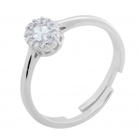 Σετ κοσμημάτων Prince Silvero (κολιέ, σκουλαρίκια και δαχτυλίδι) από επιπλατινωμένο ασήμι 925ο με ημιπολύτιμες πέτρες (ζιργκόν). JD-SE171-SET δαχτυλίδι μέρος του σετ