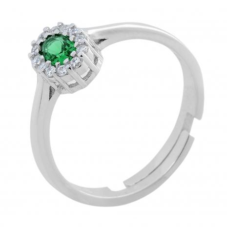 Σετ κοσμημάτων Prince Silvero (κολιέ, σκουλαρίκια και δαχτυλίδι) από επιπλατινωμένο ασήμι 925ο με ημιπολύτιμες πέτρες (ζιργκόν). JD-SE171G-SET δαχτυλίδι μέρος του σετ