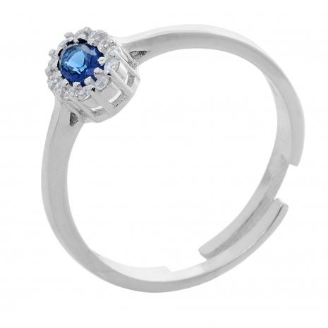 Σετ κοσμημάτων Prince Silvero (κολιέ, σκουλαρίκια και δαχτυλίδι) από επιπλατινωμένο ασήμι 925ο με ημιπολύτιμες πέτρες (ζιργκόν). JD-SE171M-SET δαχτυλίδι μέρος του σετ