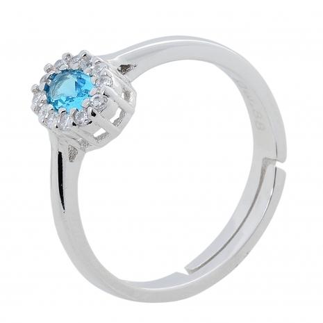 Σετ κοσμημάτων Prince Silvero (κολιέ, σκουλαρίκια και δαχτυλίδι) από επιπλατινωμένο ασήμι 925ο με ημιπολύτιμες πέτρες (ζιργκόν). JD-SE171Q-SET δαχτυλίδι μέρος του σετ