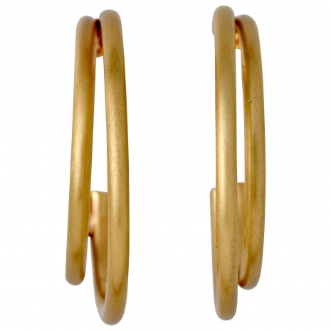 Pilgrim earrings (hoops) with gold plated brass 101712033 image 2