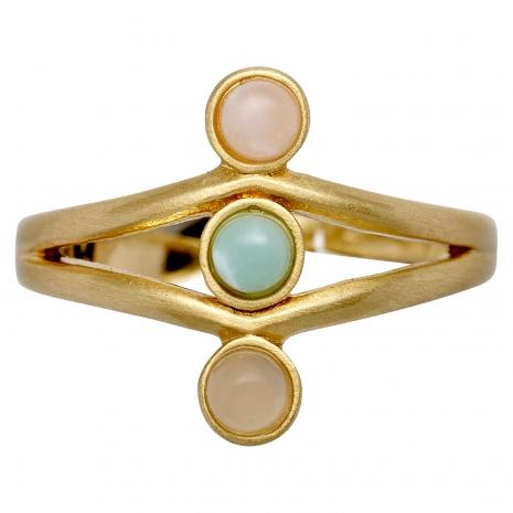 Pilgrim δαχτυλίδι από επιχρυσωμένο ορείχαλκο με ημιπολύτιμες πέτρες (ορυκτοί κρύσταλλοι) 141722404 εικόνα 2