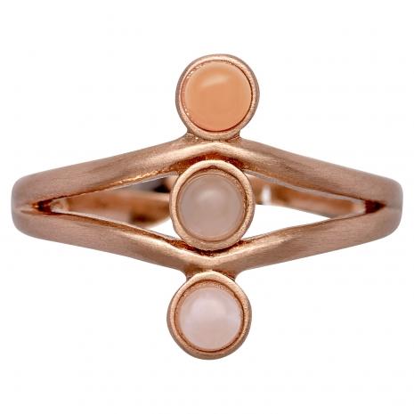 Pilgrim δαχτυλίδι από ροζ επιχρυσωμένο ορείχαλκο με ημιπολύτιμες πέτρες (ορυκτοί κρύσταλλοι) 141724704 εικόνα 2