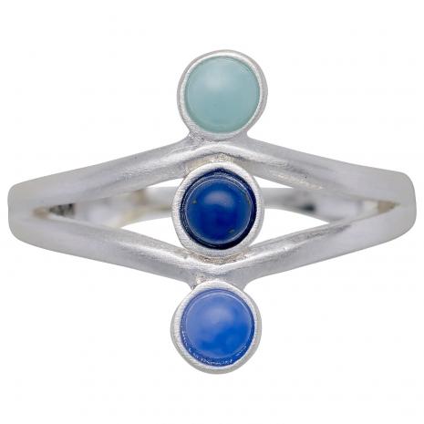 Pilgrim δαχτυλίδι από ασημί ορείχαλκο με ημιπολύτιμες πέτρες (ορυκτοί κρύσταλλοι) 141726204 εικόνα 2