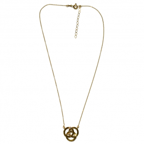Χειροποίητο κολιέ Eight-Necklace-NK-00386 από επιχρυσωμένο ασήμι 925ο με ημιπολύτιμες πέτρες (ζιργκόν) Full