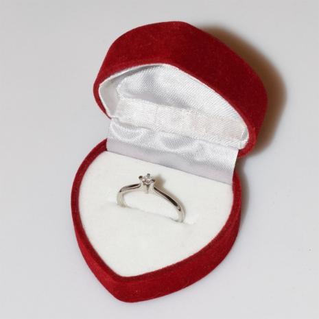 Χειροποίητο δαχτυλίδι μονόπετρο από επιπλατινωμένο ασήμι 925ο με ημιπολύτιμες πέτρες (ζιργκόν) IJ-010484-S στο κουτί συσκευασίας